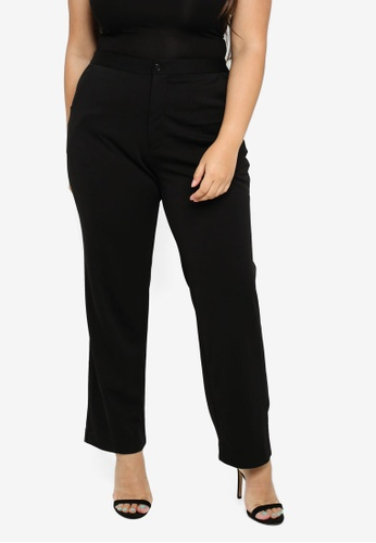 0103778705df Shop Ex'otico Plus Size Basic Trouser Online on ZALORA Philippines