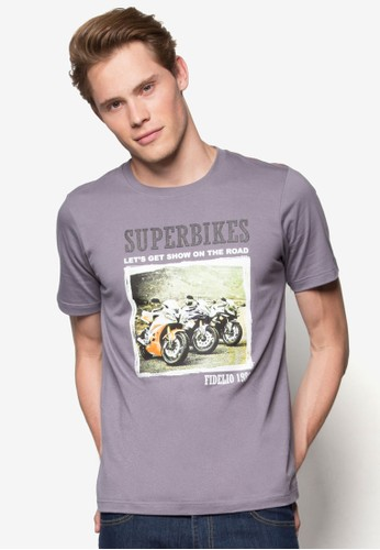『超級摩托車』圖文T 恤, 服飾, Tesprit 手錶恤