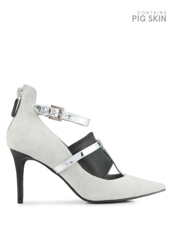 House of Avenues grey T-Strap Ankle Pumps 32DA2SH717D149GS_1