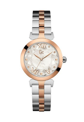 Gc Watch gold and silver GC Guess Collection Jam Tangan Wanita - Silver Rosegold - Stainless Steel - Y19002L1 GU977AC0UMR7ID_1