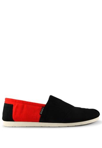 Kenz black and red Kenz Sloppy - Black Red KE298SH61BKCID_1