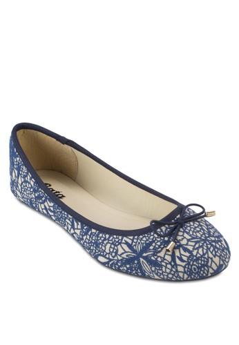 URSULE 蕾絲esprit 京站蝴蝶結娃娃鞋, 女鞋, 鞋