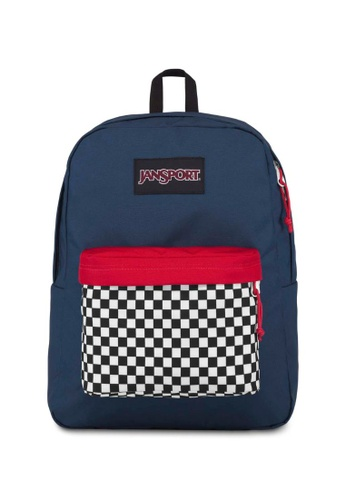 3a08bc269 Jansport black and white and navy Jansport Black Label Superbreak Backpack  Finish Line Navy - 25L