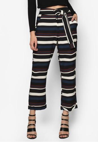 撞色esprit outlet 台中條紋長褲, 服飾, 長褲及內搭褲
