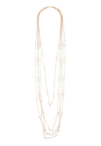 層次串珠長項鍊,esprit outlet 台灣 飾品配件, 飾品配件