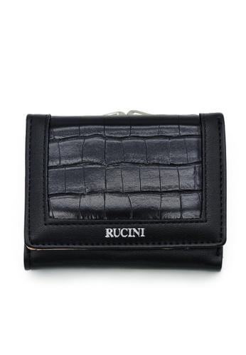 RUCINI black Rucini Ladies Short Tri-Fold Kiss Lock Wallet 31C56AC0C58A2EGS_1