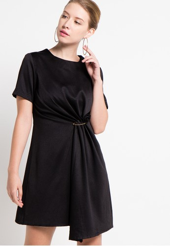 Raspberry black Shiren Shift Midi Dress RA572AA59QYAID_1