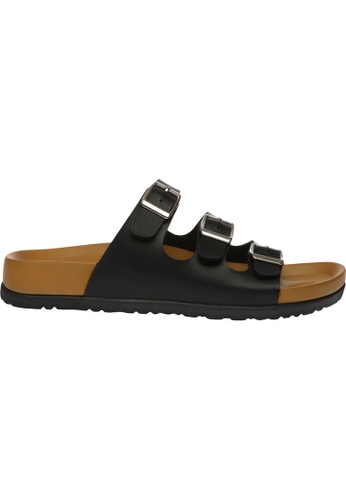 paperplanes black SNRD-223 Casual Summer 3-Belts Slippers Sandals Shoes US Women Size PA355SH52QDVSG_1