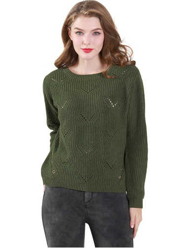 London Rag green Sherlyn Knitted Sweater E1C07AA95D647BGS_1