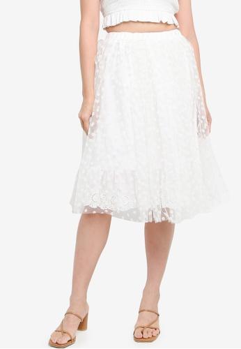 KOTON white Tulle Skirt 5BDAAAAEE802BDGS_1