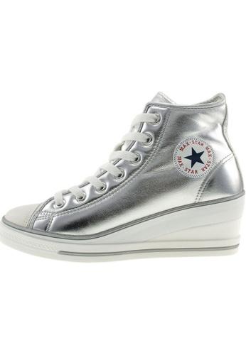 Maxstar 銀色 新款韩国鞋7H-Zip時尚皮革布混合女銀色 US Women Size MA345SH00GXBTW_1