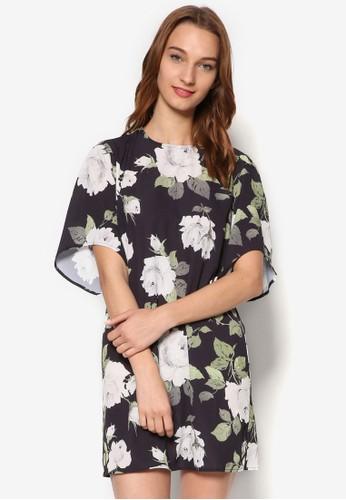 印花短袖連身裙, esprit retail服飾, 洋裝