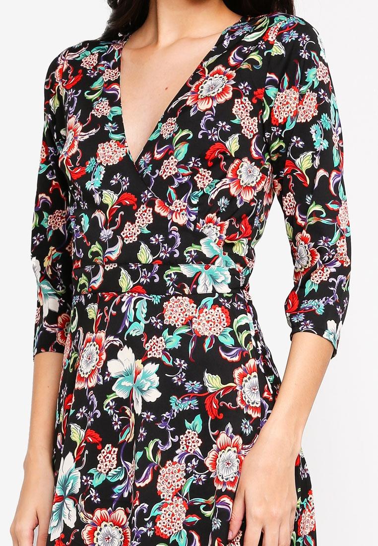 Multi Maxi Liquorish Dress Wrap Floral Print wAfqBvXg