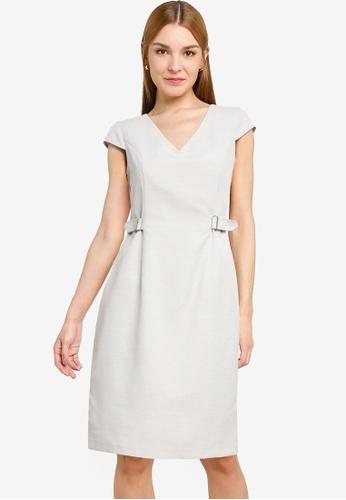 Dorothy Perkins grey Grey Occasion Dress 8CB29AA5B81867GS_1