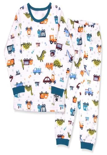 Organic mom blue Boys Autumn-Winter Dinosaur Pajamas 12F7CKAD49E49EGS_1