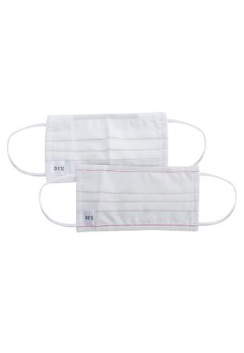 Giordano white Essential Reusable Mask - 2 Packs CDB37ES08F2DAFGS_1