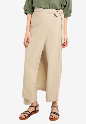 niko and ... beige Wrap Overlay Trousers 8E0DBAA29F4A8FGS_1