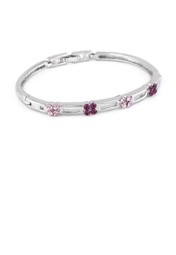 Glamorousky purple Elegant Bangle with Purple Austrian Element Crystals BC732AC4FA9743GS_1