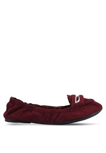 Carlton London 紅色 麂皮樂福鞋 3D94ESH7E3F55CGS_1