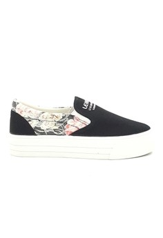 Lace Platform Canvas Slip On