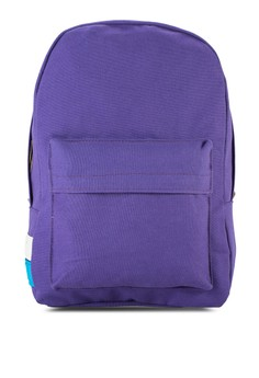 Bagstationz Casual Canvas Backpack With Colour Stripe