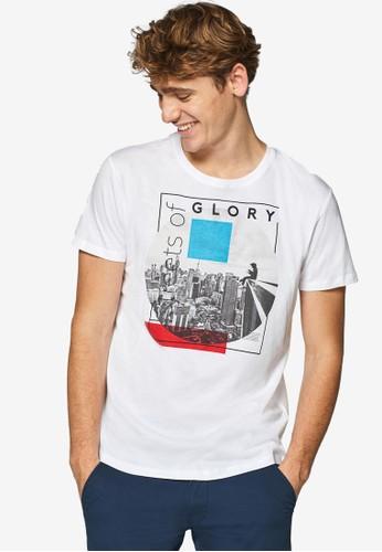 ESPRIT white Short Sleeve T-Shirt CD422AA6C46655GS_1