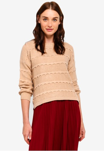 BYN beige Ribbed Knit Sweater 650A9AA1A81A2AGS_1