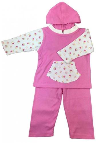 Modernform International pink One Set Sweet Pink Sweatshirt Hoodie For Kids (F18) 99123KAC2A3883GS_1