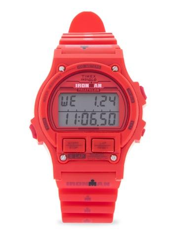 TIMEX red Ironman 8Lap Digital Watch 4CDE2ACABB0324GS_1