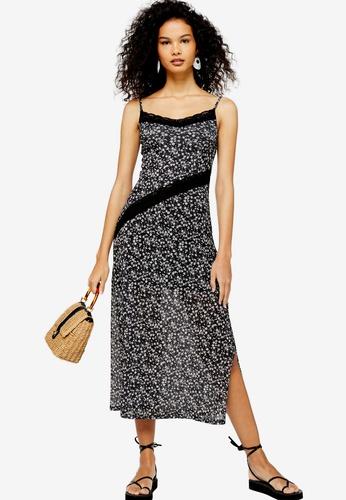 Floral Lace Mesh Midi Dress