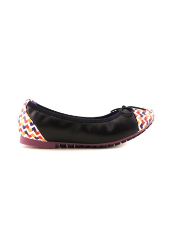 Flatss & Heelss by Rad Russel black and red and yellow and purple Multi Coloured Toe Cap Flats FL655SH99SYUSG_1