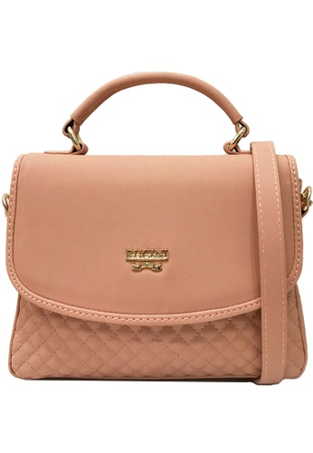 RUCINI pink Rucini Flap Over Stitched Bag Pink B8D9EACB99D42EGS_1