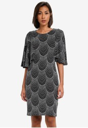 Dorothy Perkins silver Petite Silver Angel Sleeve Dress DO816AA0SB6BMY_1