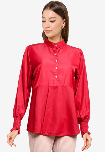 BYN red Muslimah Long Sleeve Top 17C54AA1B4106DGS_1
