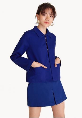Pomelo blue Lightweight Hidden Hooks Blazer B9A9FAA0DBAE49GS_1