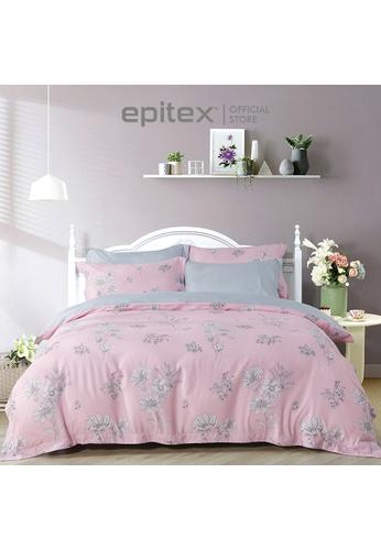 Epitex Epitex 1000TC HS1234 Hybrid Botanic Silk Printed Fitted Sheet Set - Bedsheet (w/o quilt cover) 7C828HL2AB415BGS_1