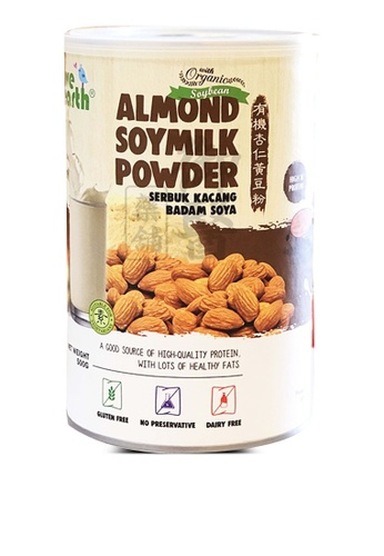 Love Earth 【Love Earth】Almond Soymilk Powder 有机杏仁黄豆粉 - 500g 810D3ESFAF2ACEGS_1