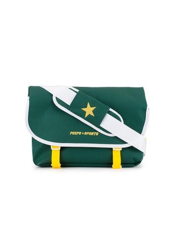 Peeps green Essential Messenger Bag 5188CACAD1309BGS_1