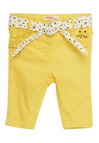 Du Pareil Au Même (DPAM) yellow Waist Tie Pants 9B88DKA27B2B5DGS_1