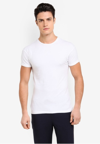 Topman white White Ultra Muscle Fit Roller T-Shirt 298B9AA64CFCD7GS_1