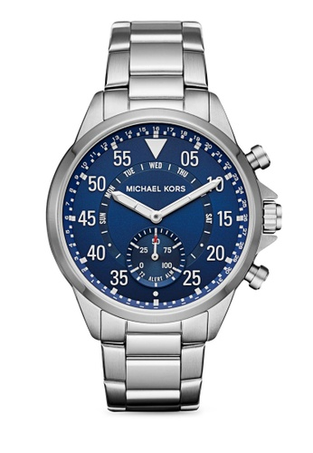 f1679701f623 MICHAEL KORS silver Michael Kors Gage Stainless-Steel Hybrid Smartwatch  MKT4000 MI165AC25ETIMY 1