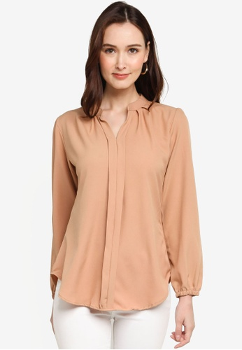 Aqeela Muslimah Wear beige Kebaya Top 75B6CAA16991D3GS_1