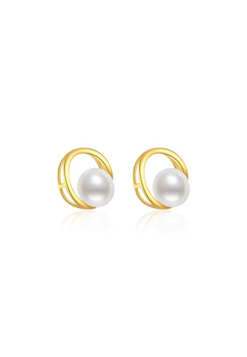 Pearly Lustre gold Pearly Lustre Elegant Freshwater Pearl Earrings WE00109 A2B22AC0127493GS_1