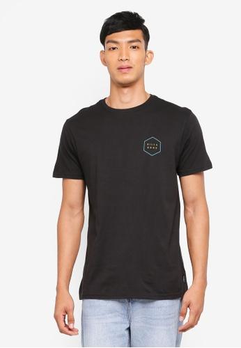 Billabong 黑色 短袖印花T恤 D288CAAD345F68GS_1