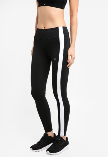 Calvin Klein 黑色 Bold Stripe Full Length Leggings - Calvin Klein Performance 19E97AA47B7A64GS_1