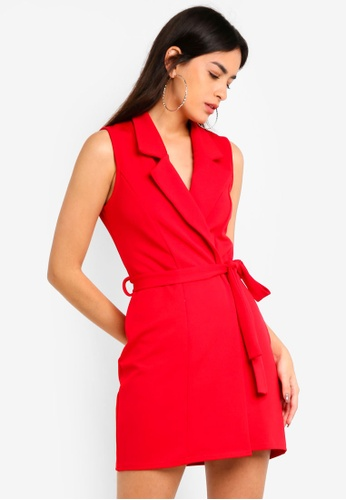 dfc5396deb Shop MISSGUIDED Sleeveless Blazer Dress Online on ZALORA Philippines