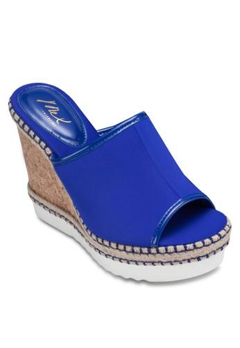露趾寬帶楔形跟涼鞋, 女鞋, 楔zalora時尚購物網評價形涼鞋