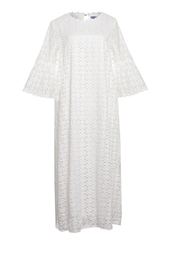 Chic Simple white Lace Trimmed Lace Maxi Dress 21A1AAA228C8ECGS_1