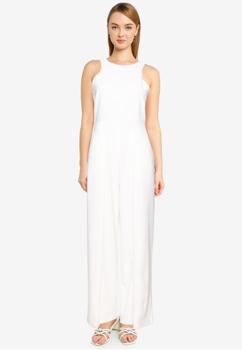 FORCAST white Rio Roundneck Panelled Jumpsuit 0F614AA480521CGS_1