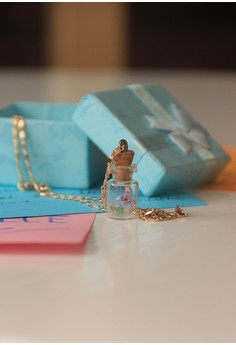 Craftika's Bottled Origami Iris Necklace